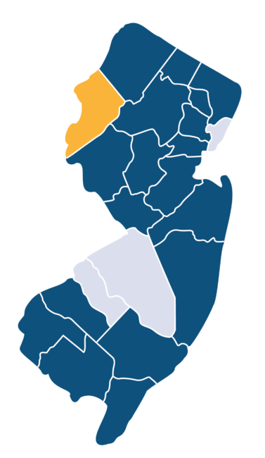 new jersey with county highlighted