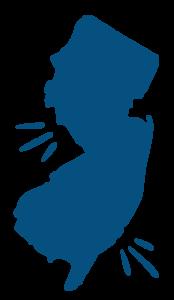 New Jersey map illustration